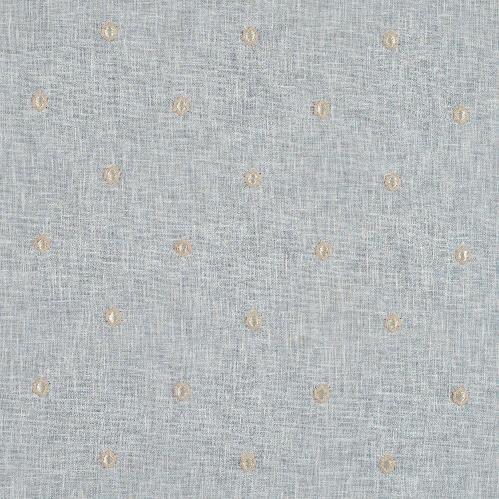 Coconut Sheer Embroidered Cotton and Polyester Voile