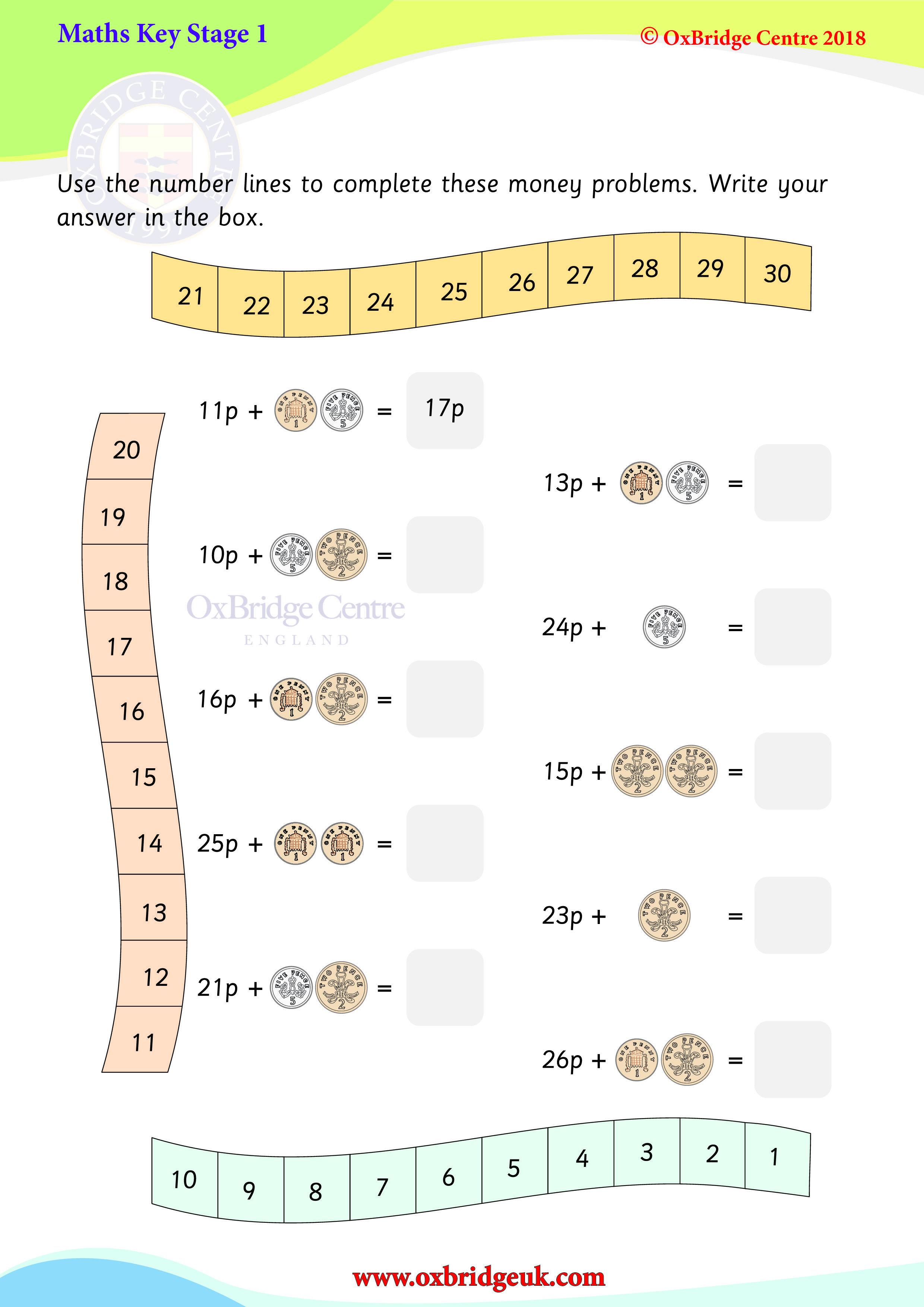 Money Sums Ks1 Maths Number Line Money Problems Key stage maths money worksheets