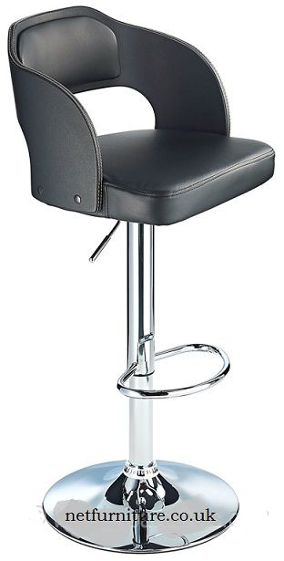 Incredible Lynne Height Adjustable Bar Stool With Padded Seat And Creativecarmelina Interior Chair Design Creativecarmelinacom