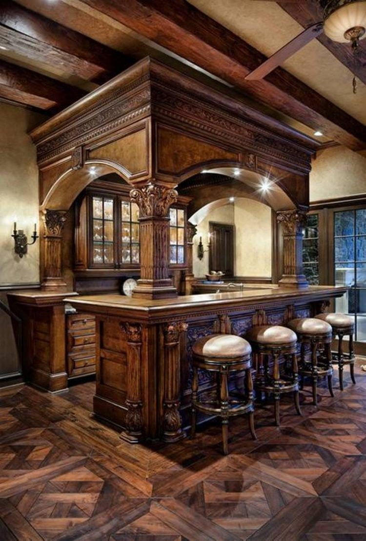 20 Of The Most Lavish Wooden Home Bar Designs | Pinterest