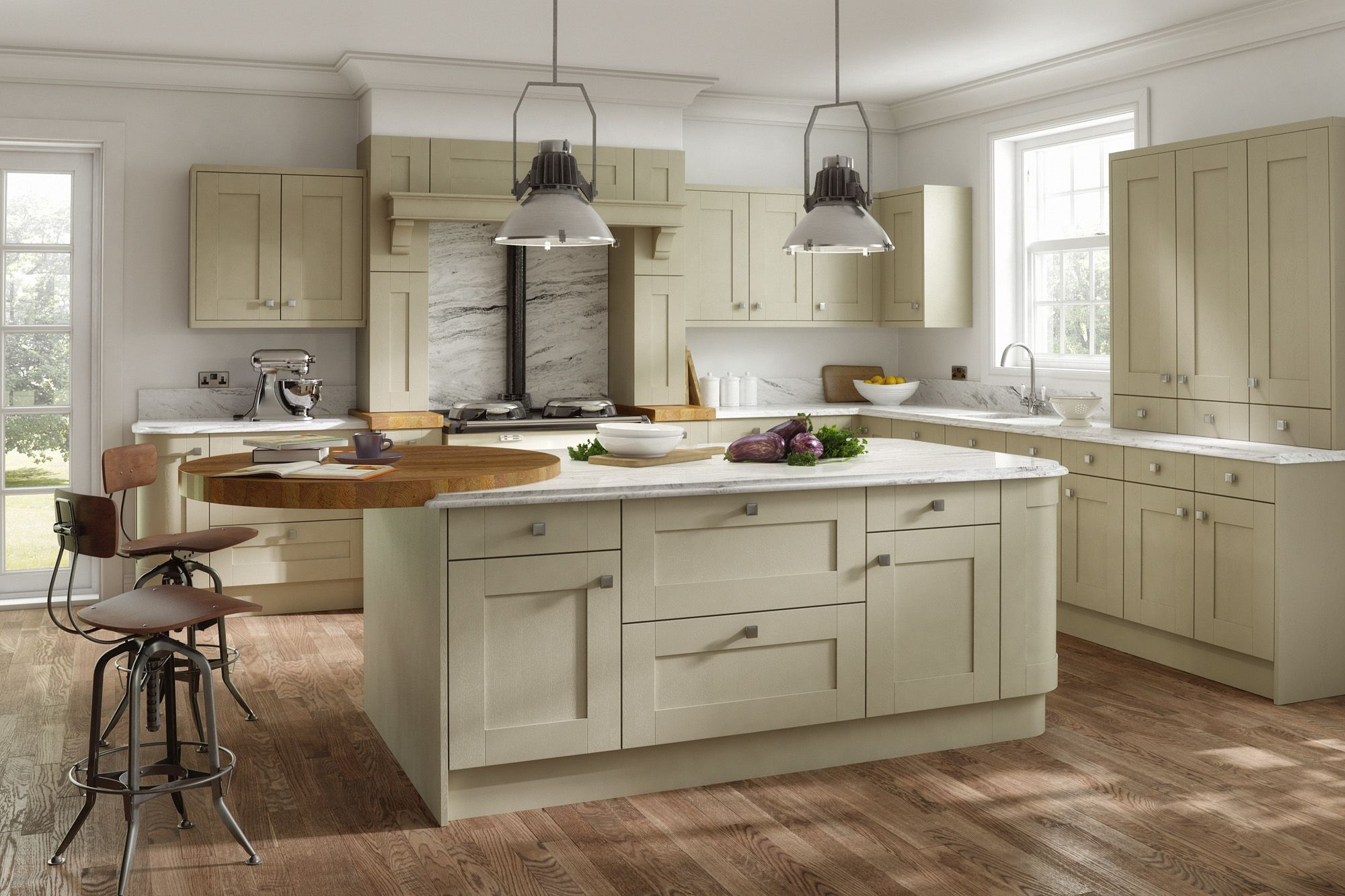 A Traditional Style Kitchen With Quadro Doors In The Colour