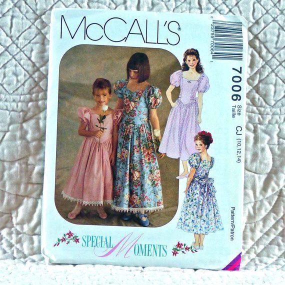 7006 McCALLS PATTERN 1994 Flower Girl Drop by HoneyCatPatterns, $6.50