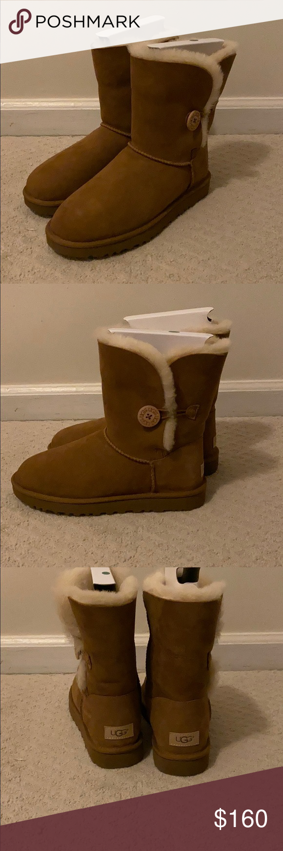 ugg jade high heeled ankle boots chestnut women shoes