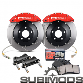 Stoptech St60 Big Brake Kit Front Slotted Rotors Red 2004 Sti Dodge Charger 2011 Wrx Performance Parts
