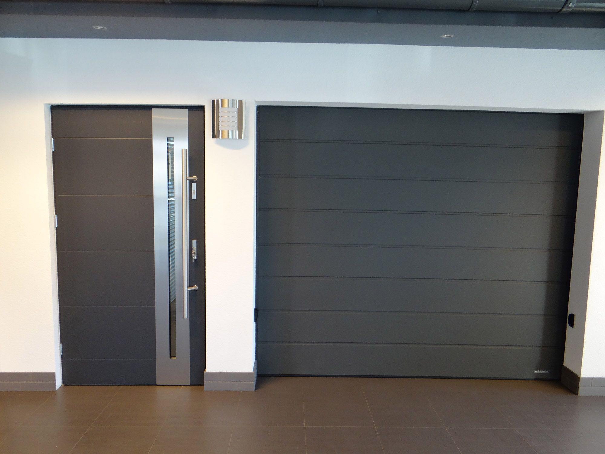New Yorker Stainless Steel Modern Entry Door With Glass Modern Exterior Doors Contemporary Garage Doors Garage Door Design
