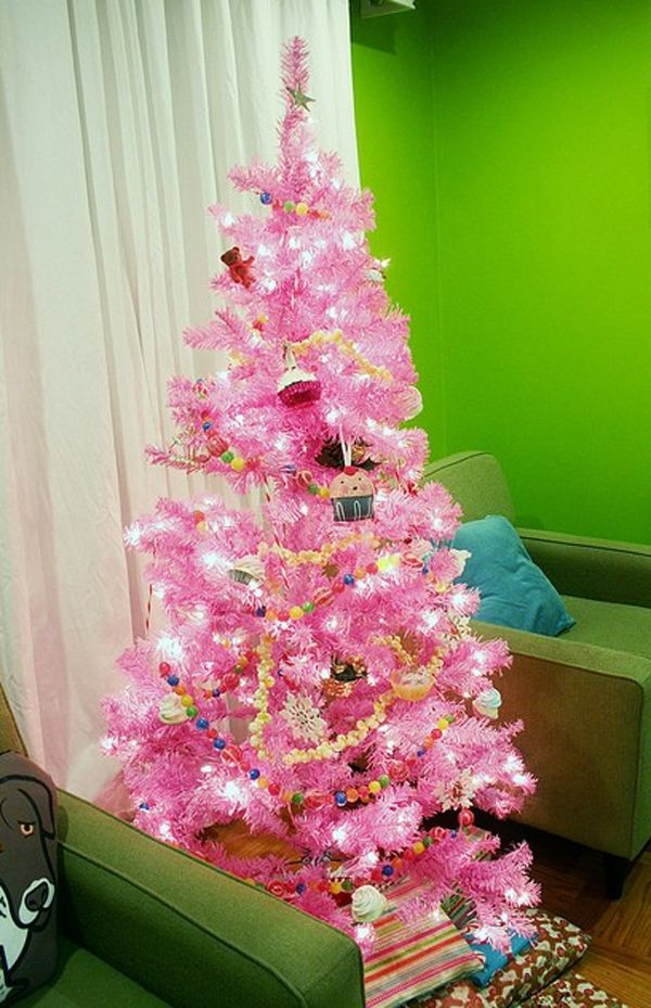 15 Cute And Beautiful Pink Christmas Tree Decorating Ideas | Home Design  And Interior