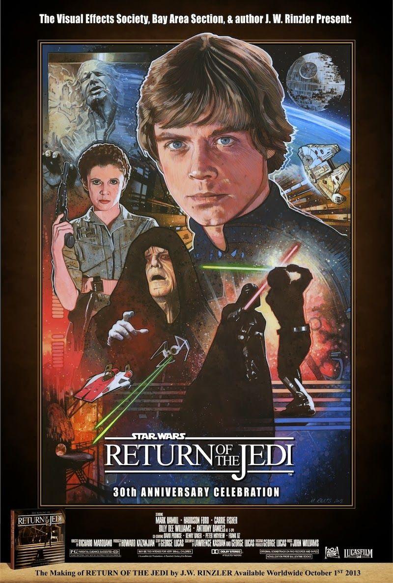 Return Of The Jedi 30th Anniversary Lobby Poster By Mark Raats Star Wars Artwork Star Wars Art Star Wars Pictures