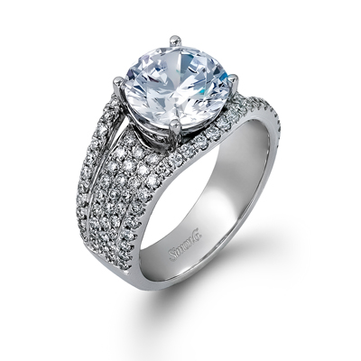 As real and fine as this engagement ring from Simon G is the beauty of the commitment you're about to journey on with your dearly loved partner. A display of love with this alluring 18k white gold ring can go a long way for your flourishing love. #TriceJewelers #EngagementRing #SimonG