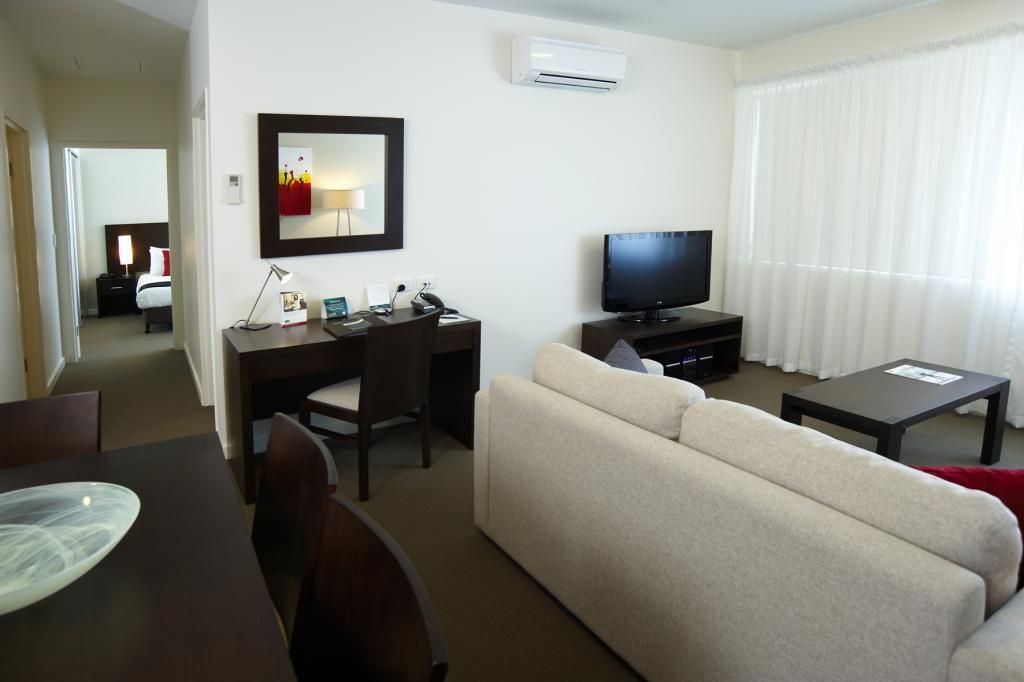 Small Apartment Bedroom Put Dining Table And Living Room In One Space Including Dark Wooden Furniture