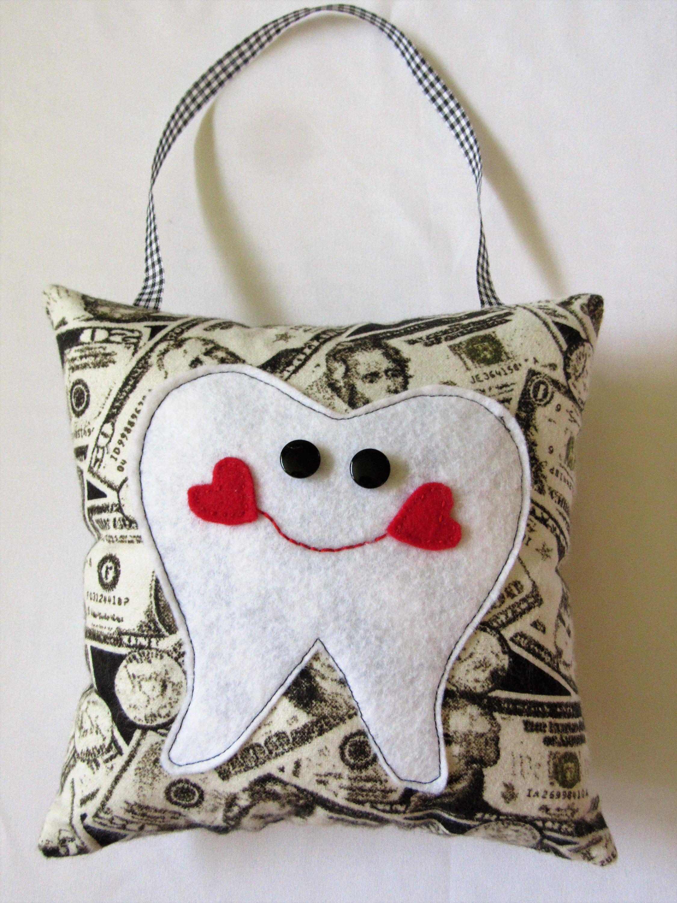 Tooth fairy pillow money design fabric boy or girl