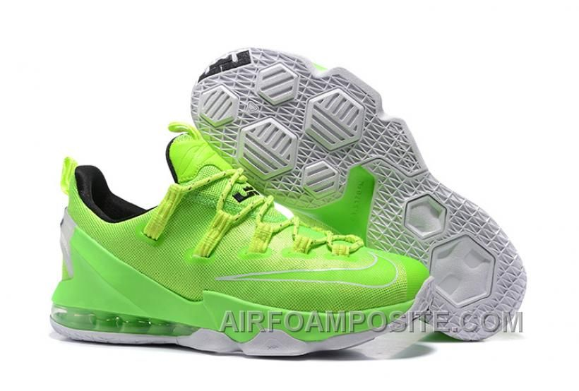 Nike Lebron 13 Low Green Yellow White 52Xc6
