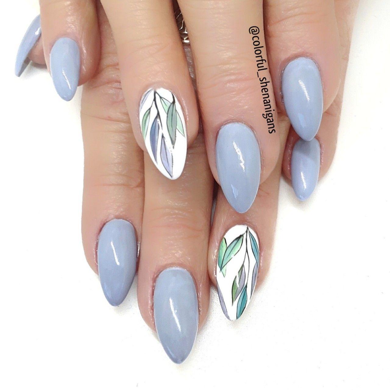 Colorful Shenanigans Leaf nail art utah county nail art