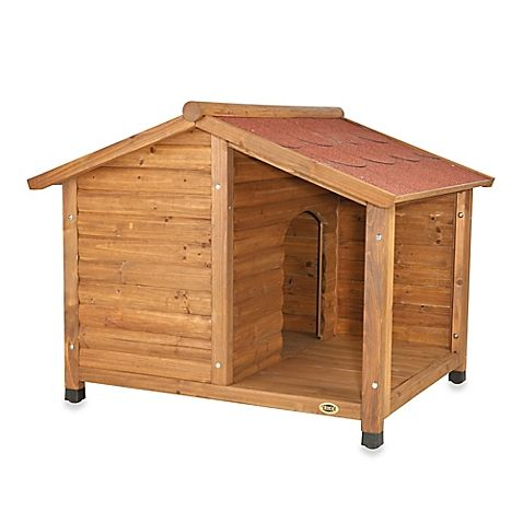 Trixie Rustic Dog House with Covered Porch