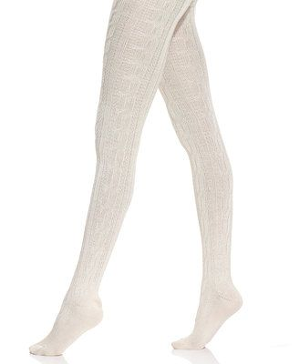 1dab0654a Hue Chunky Cable Knit Tights- Macys. Ivory would go with the skirt and  dress on this page.