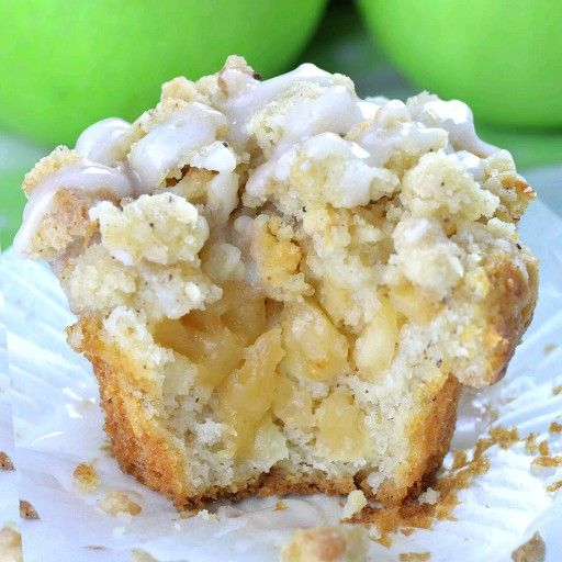 Apple Pie Muffins with Streusel Crumbs