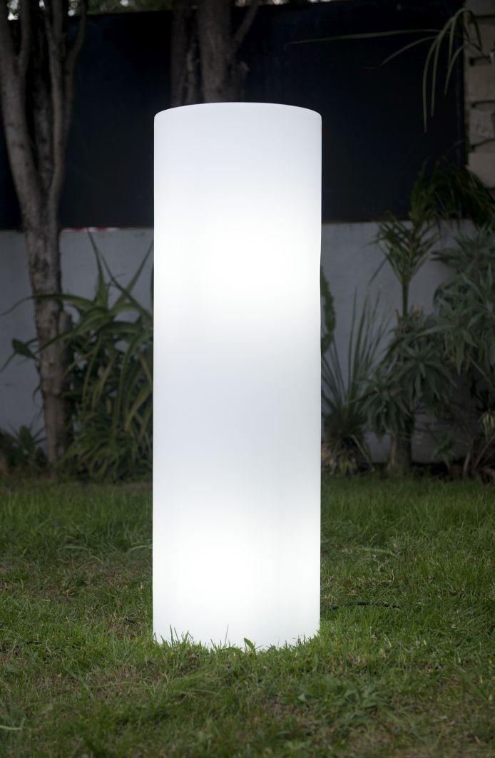 ALTY Gartenleuchte weiß Outdoor, Zylinderform, Säulen Lampe