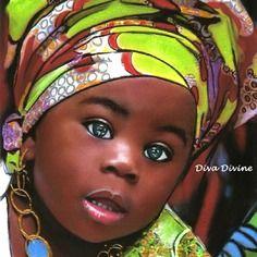 Tableau portrait enfant ethnique africain, visage du monde - format env.a4 - création originale au pastel sec ~ melissa ~