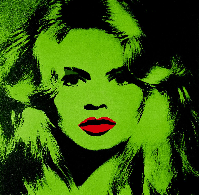 Andy Warhol Green Brigitte Bardot