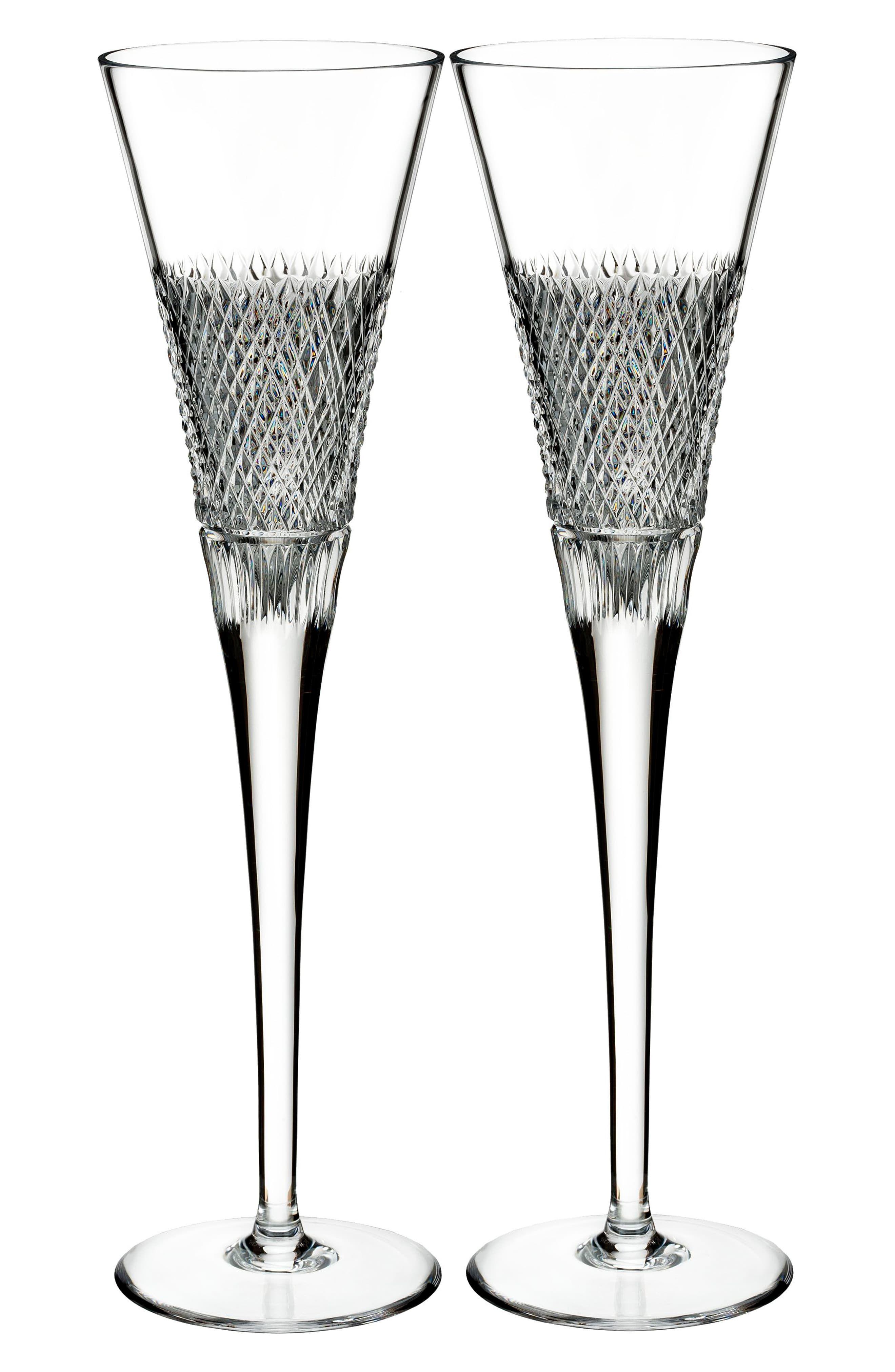 Waterford Diamond Line Crystal Wine