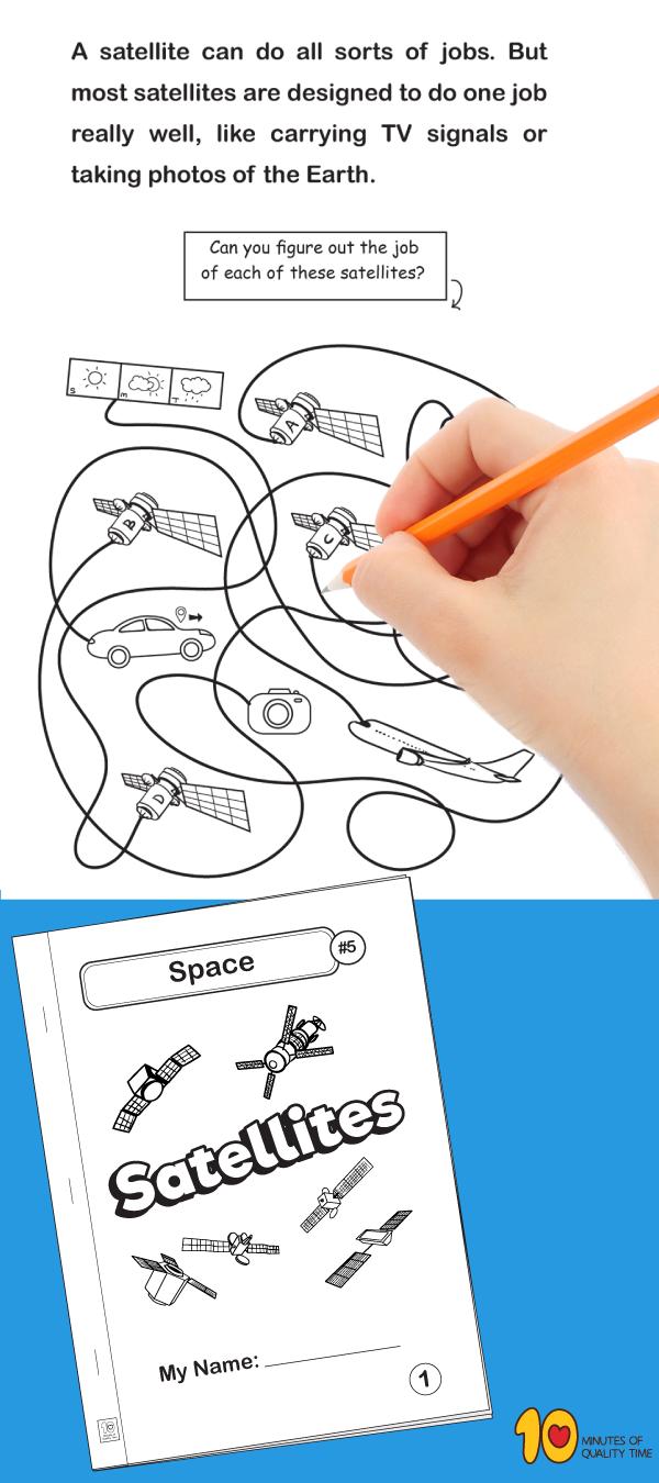 Space 5 Satellites Satellites Fun Activities For Kids Activities For Kids [ 1350 x 600 Pixel ]