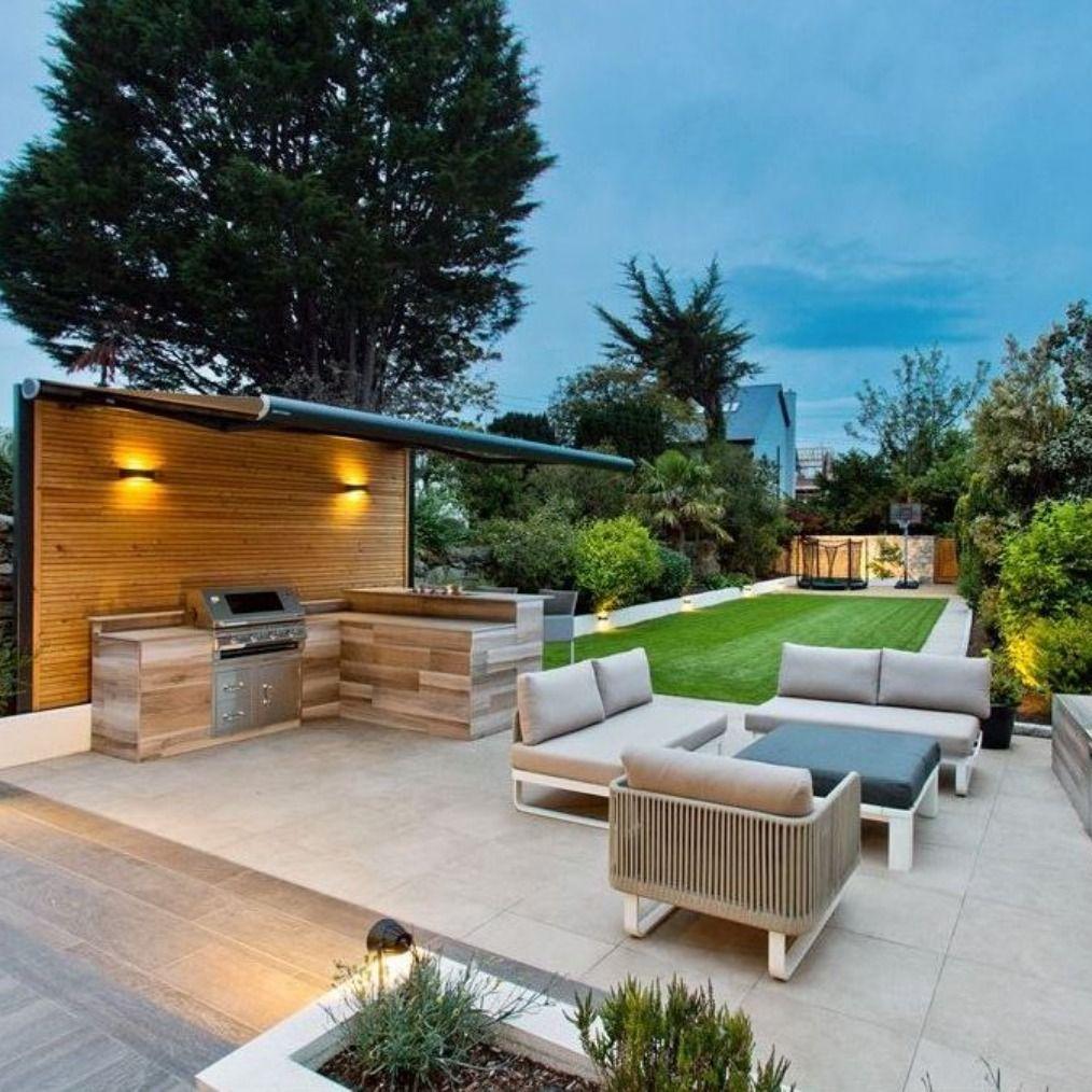 Amazing Dublin Garden In 2021 Backyard Barbecue Design Outdoor Bbq Area Outdoor Gardens Design Modern outdoor bbq ideas
