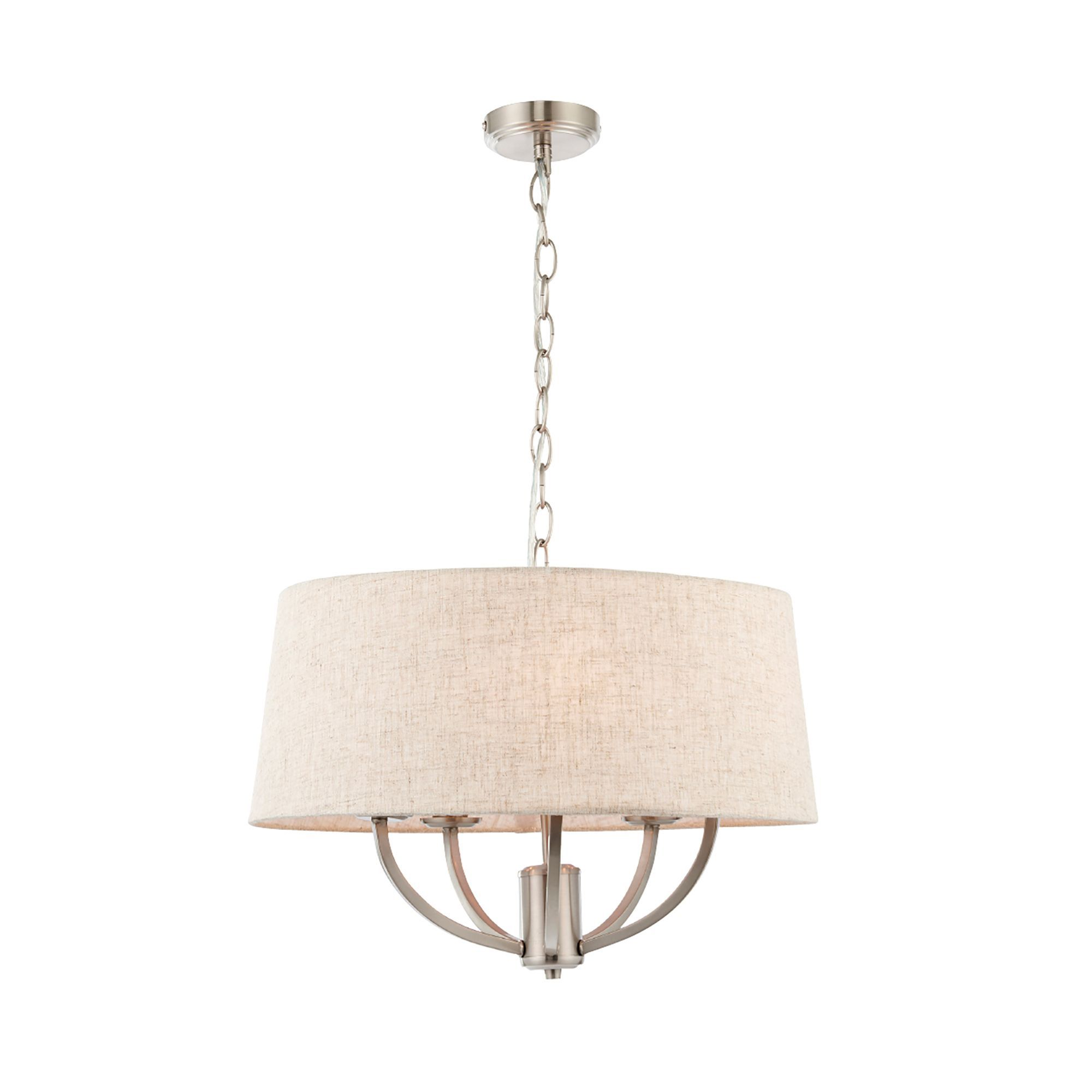 Hampstead natural linen effect 5 lamp ceiling light departments hampstead natural linen effect 5 lamp ceiling light departments diy at aloadofball Image collections