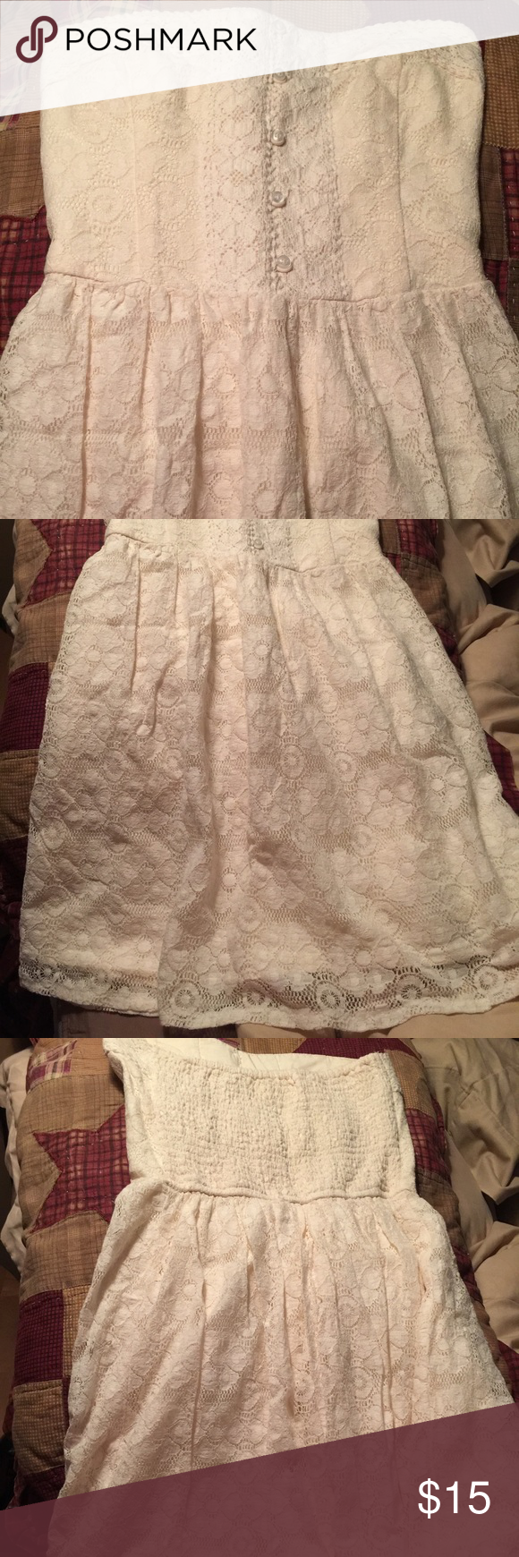 A&F strapless dress Beautiful creme color , perfect condition Abercrombie & Fitch Dresses Strapless