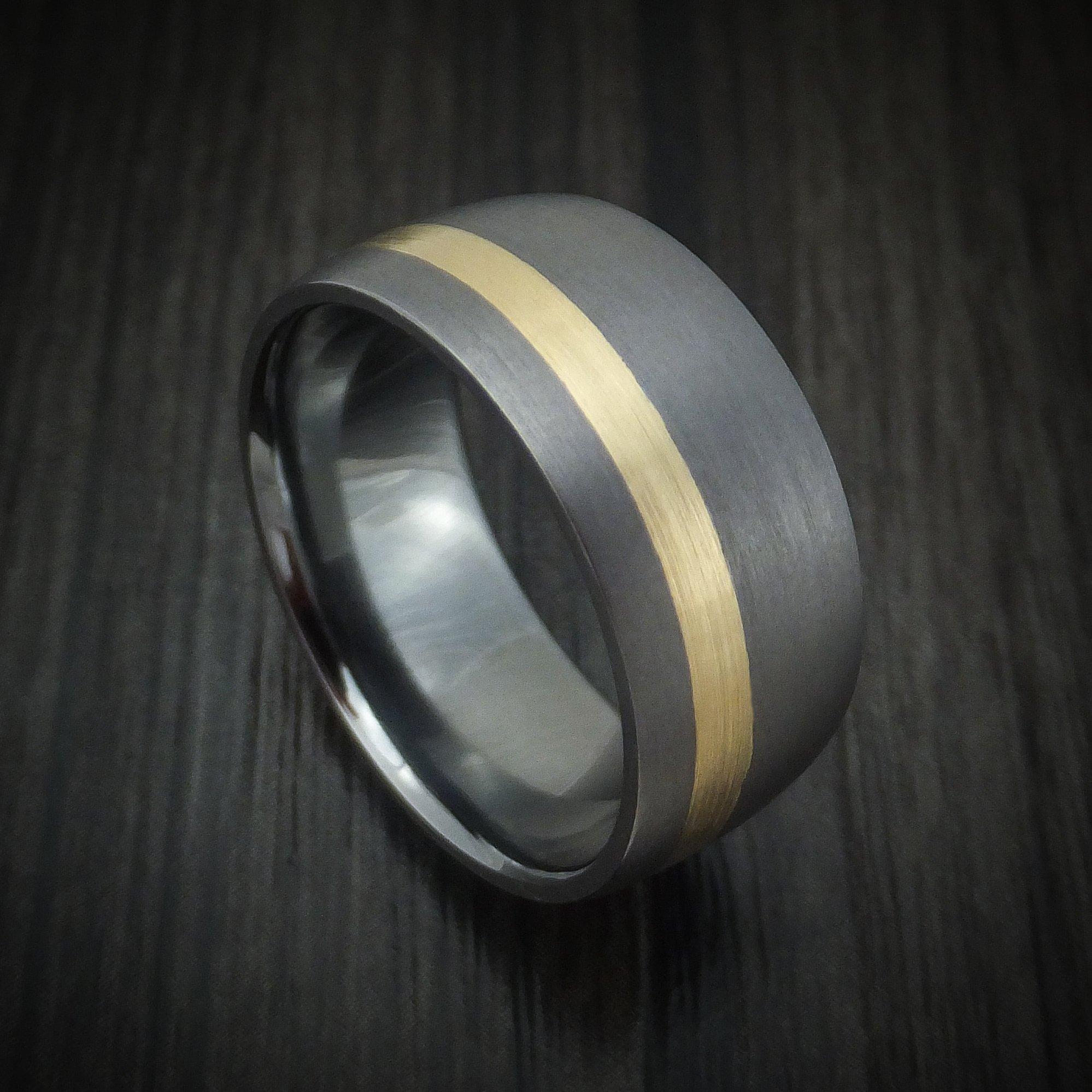Tantalum and 14K Gold Ring Custom Made Band 14k gold
