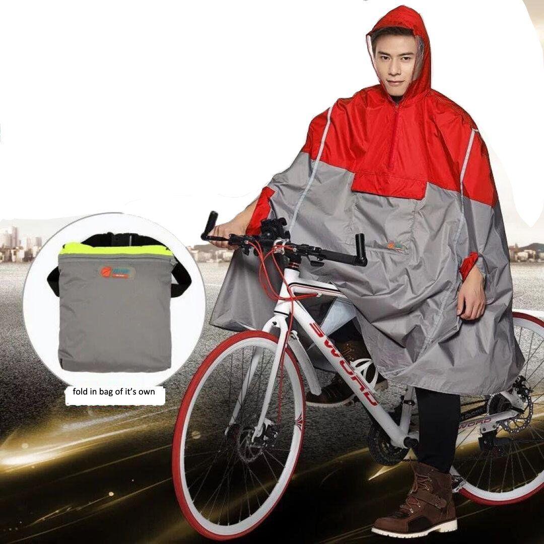 Sudatek New Lightweight Cycling Rain Poncho Bike Hooded Raincoat Rain Cape Duarable Breathable And Waterp Hooded Raincoat Rain Jacket Women Raincoats For Women