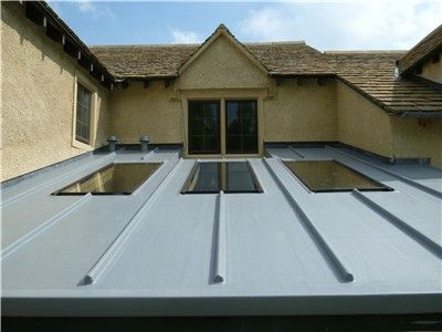 Fibreglass Grp Used For Valleys And Other Roofing Features Fibreglass Roof Flat Roof Skylights Zinc Roof