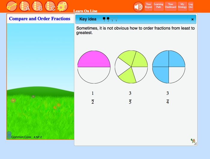 Interactive lessons start with key ideas. Engaging videos, with models and audio support, present concepts step-by-step.