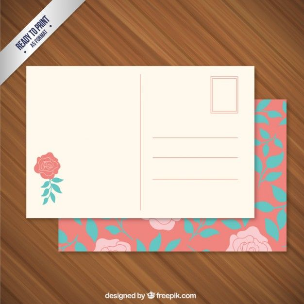 Pin By Krisztina Ménesi On MOCK   UP Pinterest Post Card   Postcard Format  Template  Postcard Templates Free