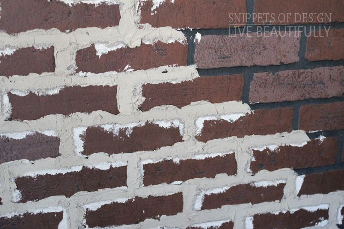 Add Grout Onto Faux Brick Panels Looks Old And Vintage Brick Wall Faux Brick Faux Brick Panels Faux Brick Walls