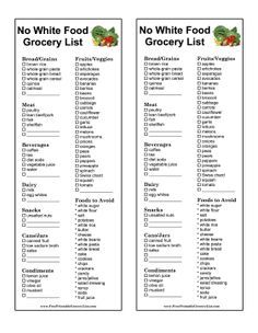 Printable List Of Low Sodium Low Carb Foods Shopping List