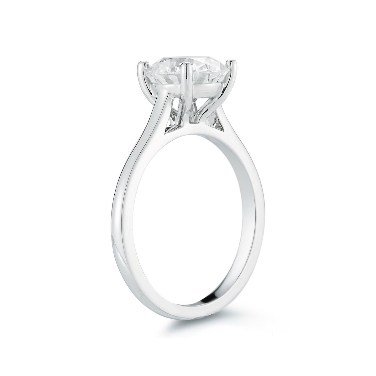 Marshall Pierce Company Chicago Cathedral Diamond Solitaire Engagement Ring 3 Wedding Rings Solitaire Diamond Solitaire Engagement Ring Custom Engagement Ring
