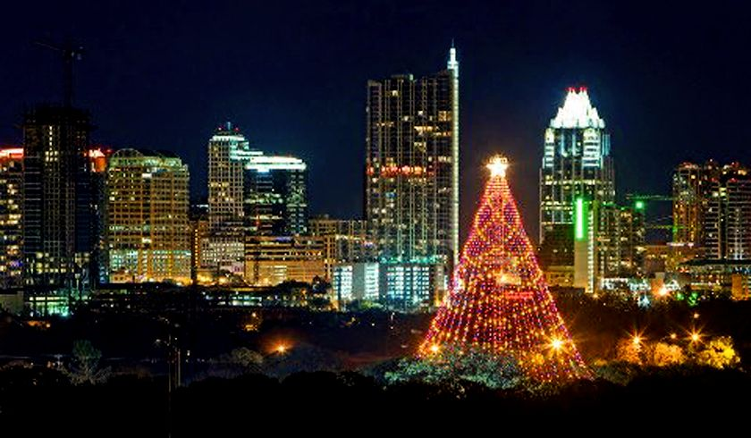 Austin Zilker Park Christmas Tree | Holiday lights display ...