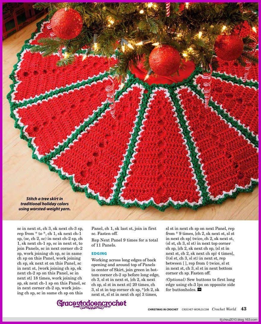 Tree Skirt! *** Falda para adornar el árbol de Navidad! | Afghan ...
