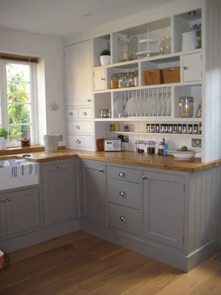 Great use storage space idea to organize small kitchen Small cottage renovation ideas