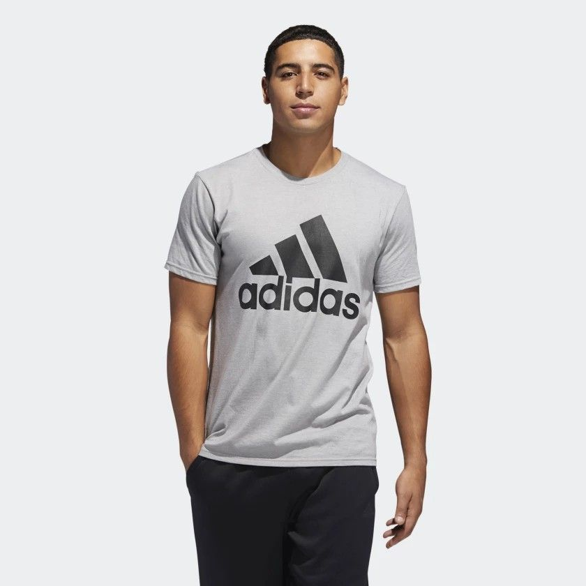 9240b16e22 Badge of Sport Classic Tee Heather Grey Mens | Christmas | Workout ...