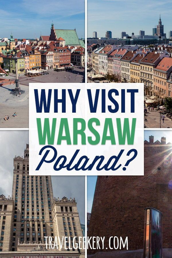 Check out reasons to travel to Warsaw Poland. From diverse things to do in Warsaw such as sightseeing the magnificent Warsaw Old Town to getting stuffed with hearty Polish food. Admire Warsaw's architecture, vast greenery and the city's unique vibe. Visit Warsaw in summer or winter, you won't be disappointed.   #warsaw #poland #travelgeekery