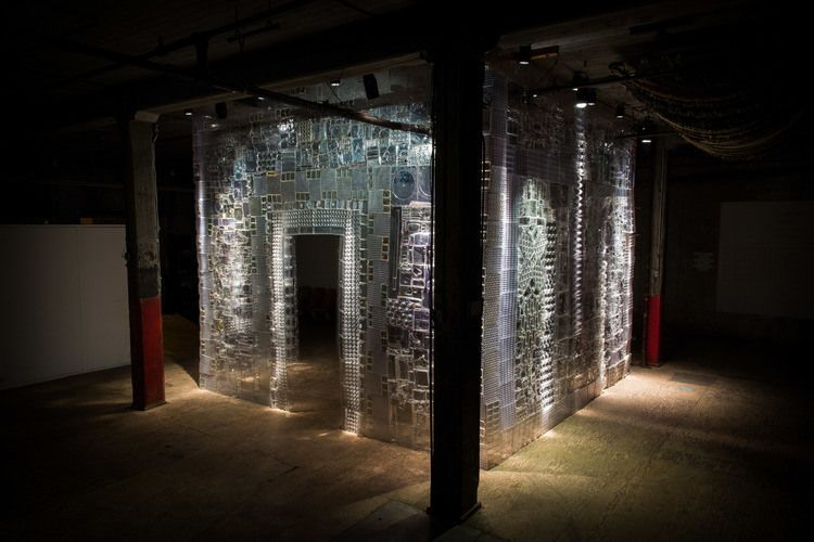 'Blister Pact', A Translucent Structure Made of Thousands of Pieces of Plastic Packaging