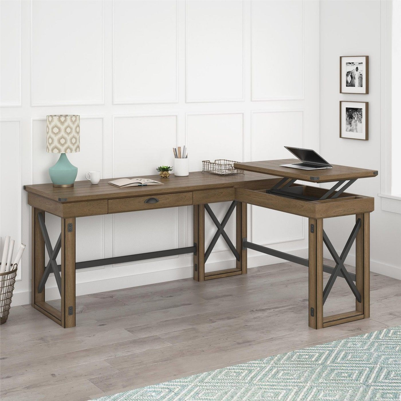 Wildwood L Shaped Desk with Lift Top - Ameriwood Home - image 49