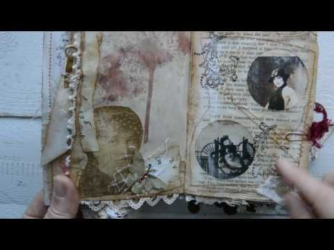 "Tsunami rose DT  project for December. Mini junk journal "" A lady`s diary"" ( sold ) - YouTube"
