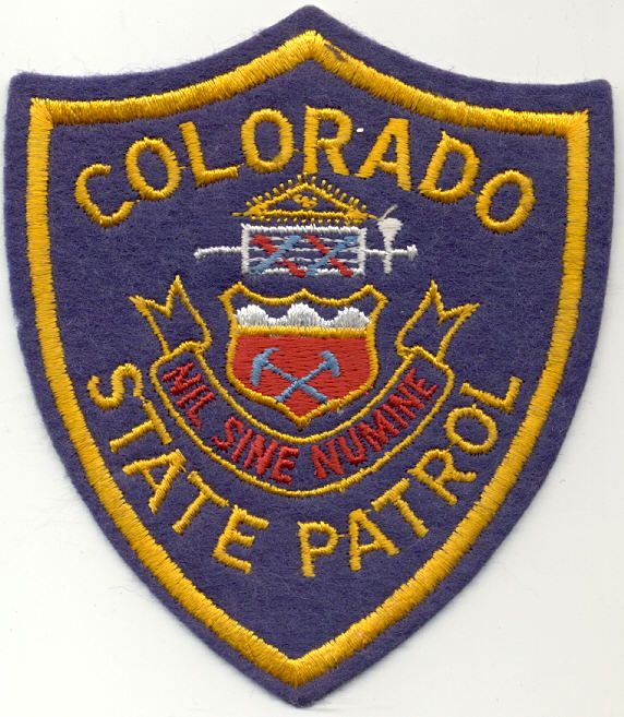 Colorado State Police Patches