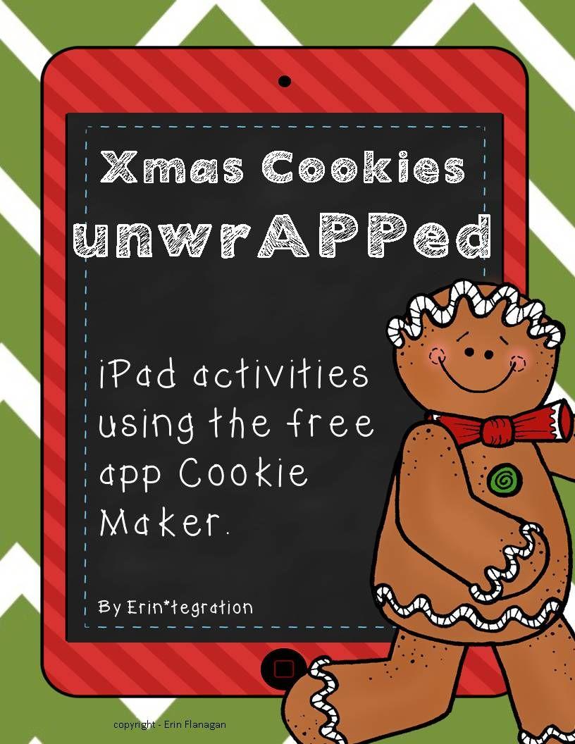 Christmas Cookie iPad Activities for Math & Writing Math