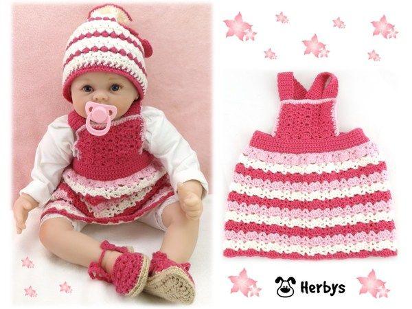 Anleitung Babykleid Häkeln Häkelanleitung Babyträgerkleid