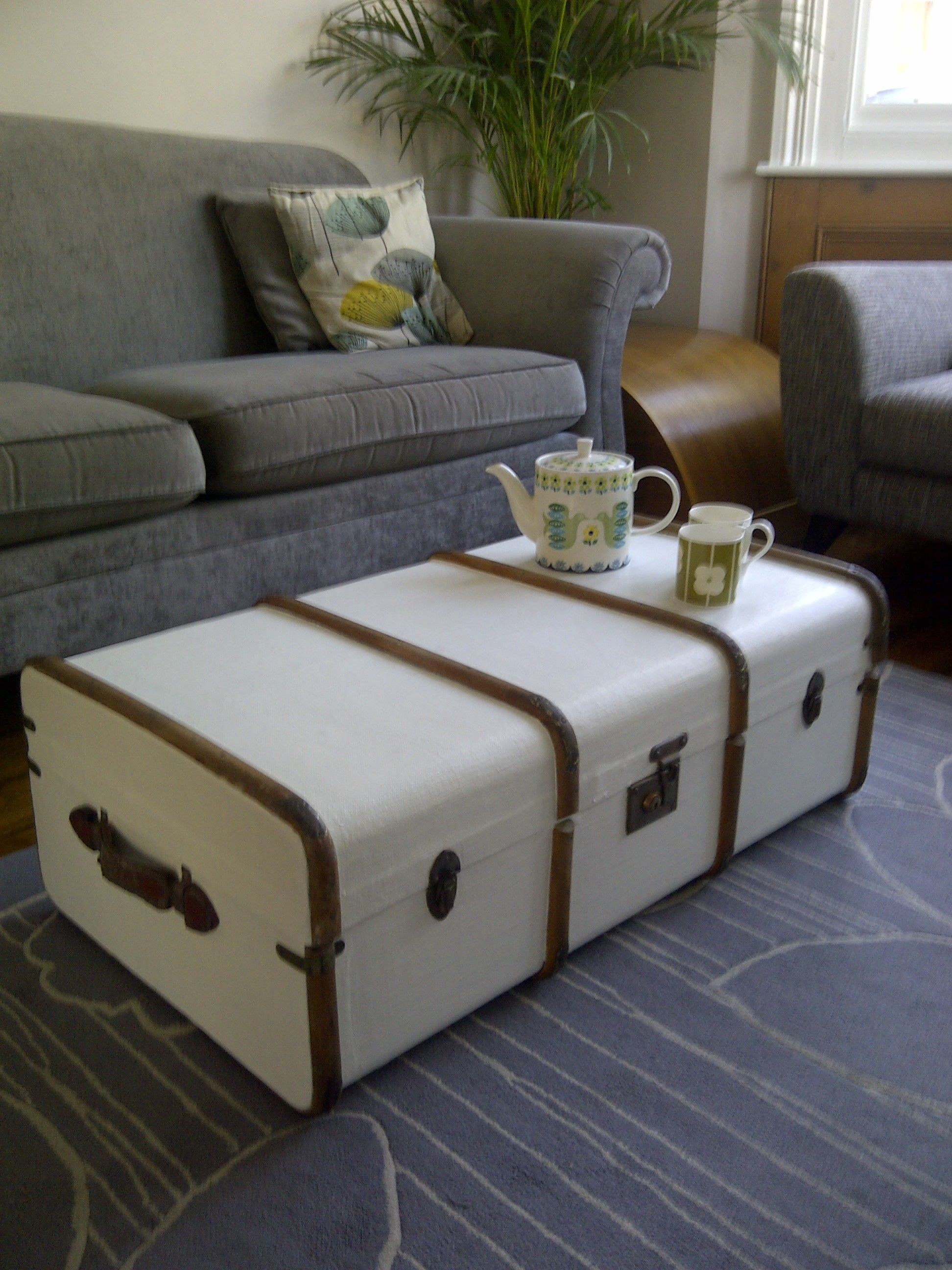 Contemporary Style For A Well Travelled Steamer Trunk