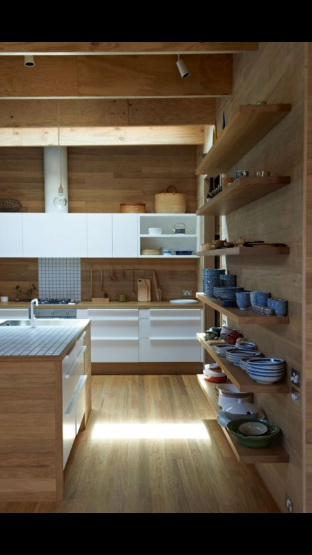 Love the use of wood in this kitchen!