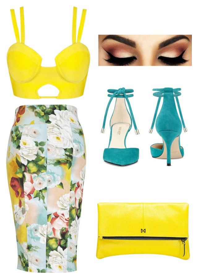 Yellow by rute-pereira-i on Polyvore featuring polyvore, fashion, style, Nine West, MOFE and clothing