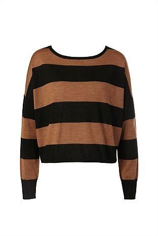 block stripe knit